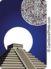 骨董品, カレンダー, mayan, ピラミッド