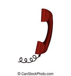 骨董品, コード, 電話, 赤