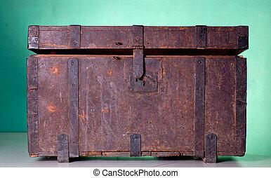 骨董品, トランク, 木製である
