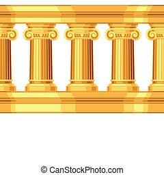 骨董品, パターン, seamless, ギリシャ語, ionic, コロネド