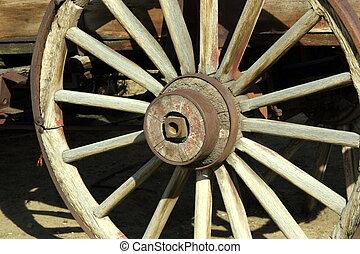 骨董品, ワゴン, 古い, 車輪