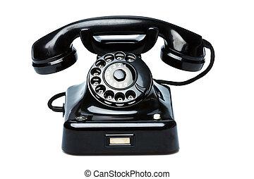 骨董品, 古い, 電話。, レトロ