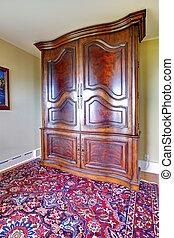 骨董品, 大きい, 戸棚, 家具