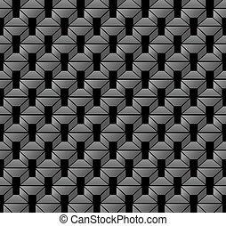 骨董品, 広場, 多角形, 幾何学, 交差点, seamless, 背景, 銀, 3d