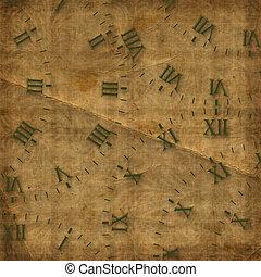 骨董品, 文字盤, 上に, ∥, 抽象的, 背景
