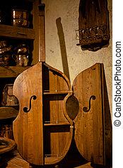 骨董品, 木製である, ベース, キャビネット