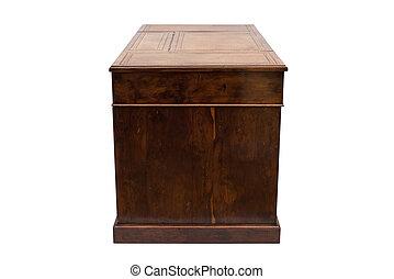 骨董品, 木製である, 側, オフィス机