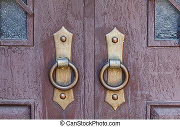 骨董品, 木製の戸, 刻まれた
