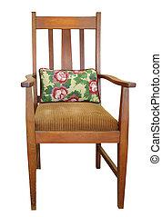 骨董品, 椅子, クッション