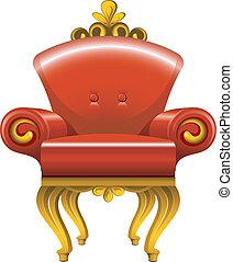 骨董品, 肘掛け椅子, 赤