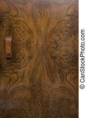 骨董品, 背景, ハンドル, ドア, キャビネット