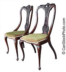 骨董品, 華やか, 2, 椅子
