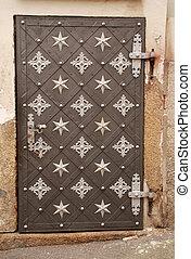 骨董品, 金属, ドア, 華やか