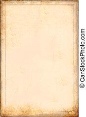 骨董品, 黄色がかった, paper., 羊皮紙