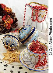 骨董品, biedermeier, 古い, 安っぽい飾り, 磁器製品, クッキー, 時間, クリスマス