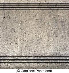 骨董品, render, モールディング, 壁, ギリシャ語, ローマ人, 3d