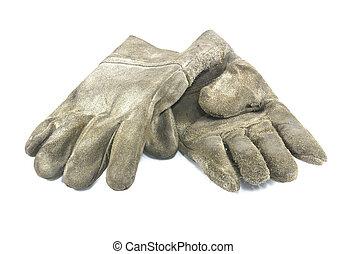 骯髒, 手套, 老, 被隔离, 工作