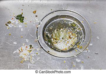 骯髒, 洗滌槽