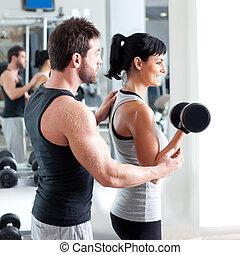 體操, 婦女, 個人教練, 由于, 重量訓練