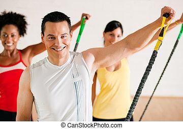 體操, 訓練, 在, 體操