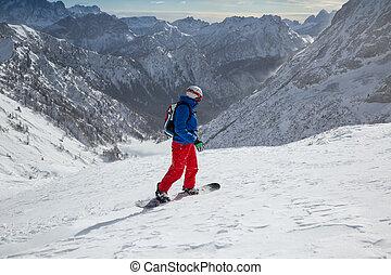高い山, スノーボーダー