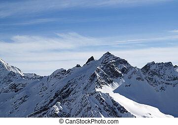 高い山, 冬