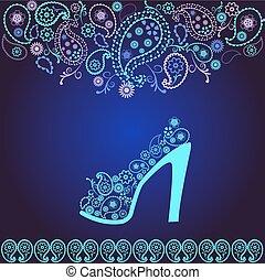 高い かかと, ファッション, 靴, 背景