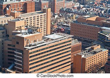 高い, れんが, 建物, ヘリポート, フィラデルフィア, パパ, アメリカ
