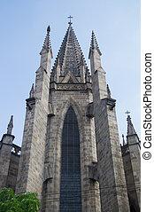 高い, タワー, 教会