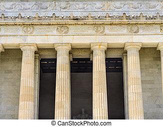 高い, dc, コラム, リンカーンの 記念物, アブラハム, 像, ワシントン