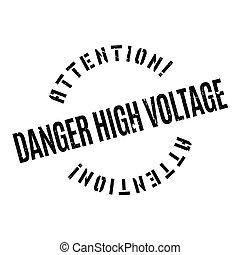 高く, ゴム, 危険, 電圧, 切手