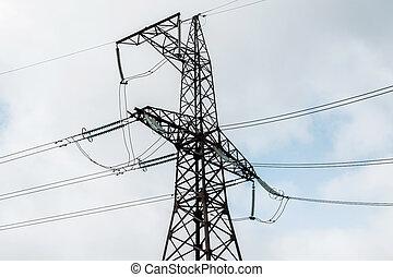 高く, タワー, 電圧