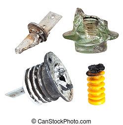 高く, 分解する, insulators, 欠陥, 電圧