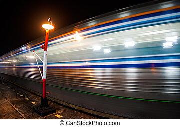 高く, 列車, スピード