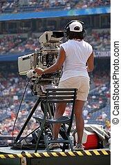 高く, 定義, カメラオペレーター, tv