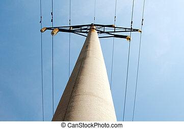高く, 線, 空, 電圧, 背景