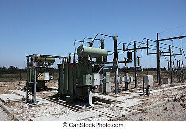 高く, 電気である, 駅, 変換器, 電圧