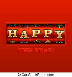 高兴的新年, 卡片