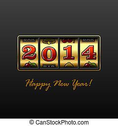 高兴的新年, 2014, 卡片