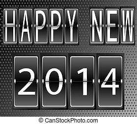 高兴的新年, 2014, 放置, 在中, 信件