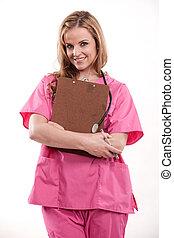 高加索人, 護士, 有吸引力, 醫生