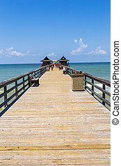 高尔夫球, 墨西哥, 海滩, 码头, 那不勒斯, 正午