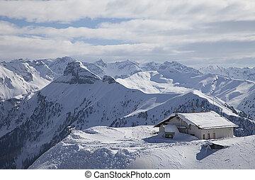 高山, 在, 冬天