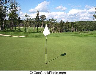 高爾夫球場, 旗