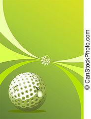 高爾夫球, 矢量, 設計