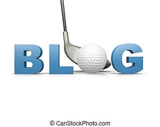 高爾夫球, blog