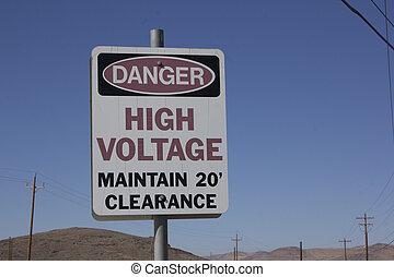 高的电压, 危险