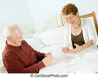 高级夫妇, 纸牌