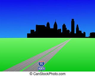 高速公路, 到, 費城
