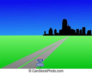 高速公路, 到, 達拉斯